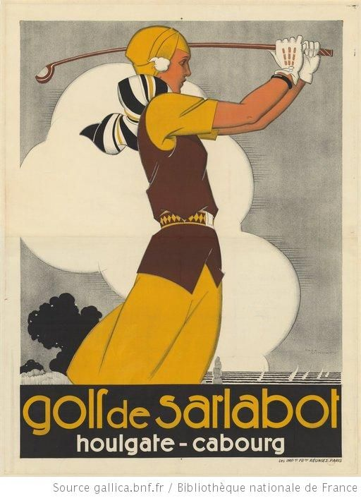 Golf de Sarlatbot : Houlgate - Cabourg : [affiche] / René Vincent - 1