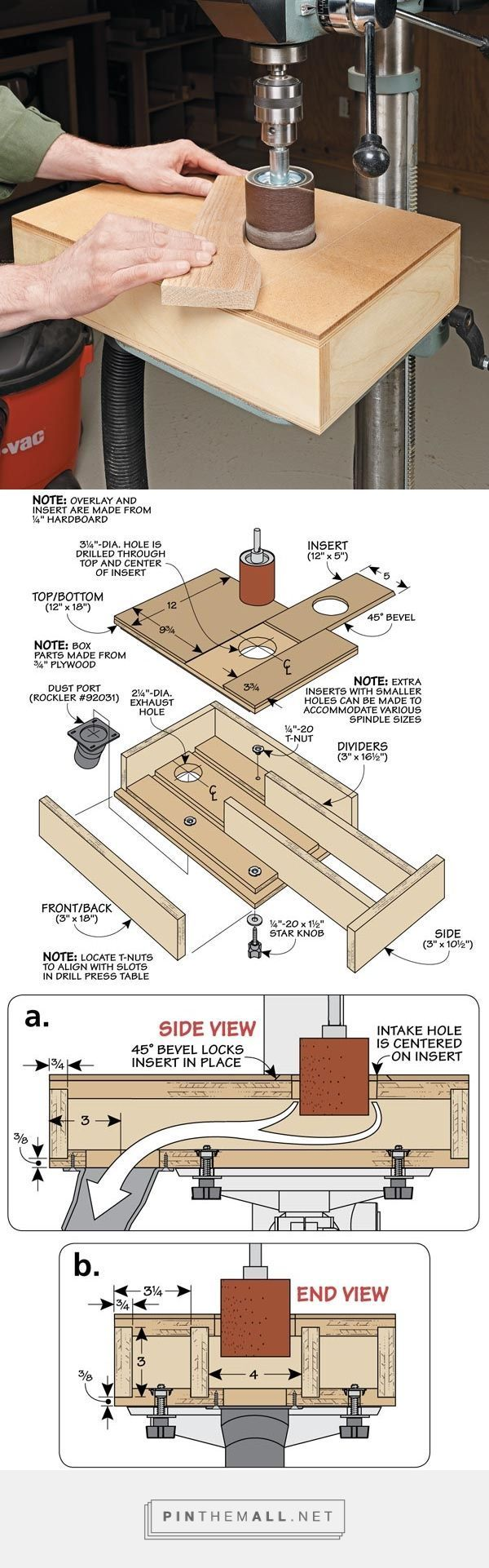Dust-Free Sanding Table   Woodsmith Tips - created via http://pinthemall.net