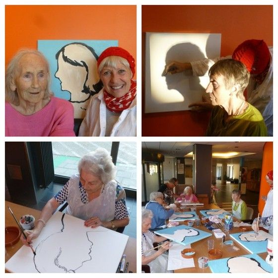 A Creative Day with 5 Golden Girls& 1 Golden Boy - Mieke Drossaert - St. Elisabeth  (Oostende) - 2013