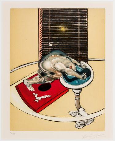 Francis Bacon (1909 - 1992), Der mann im waschbecken Color-Aquatint