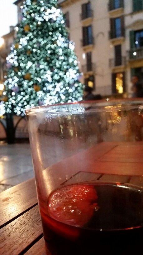 Mulled wine in Verona Piazza delle Erbe Square