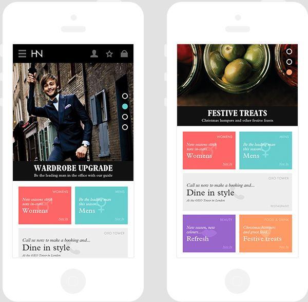 Harvey Nichols mobile on App Design Served