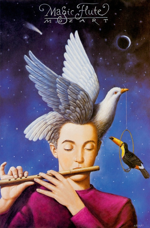 La flauta magica - Mozart (Rafal Olbinski)