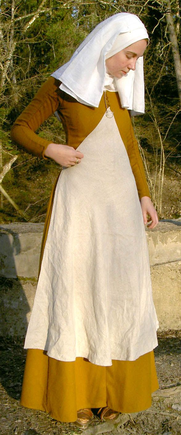 Historiska Världar - Dräkter - Borgarkvinna slutet av 1300-talet (translation: History Worlds - Costumes - Castles Woman late 1300s)