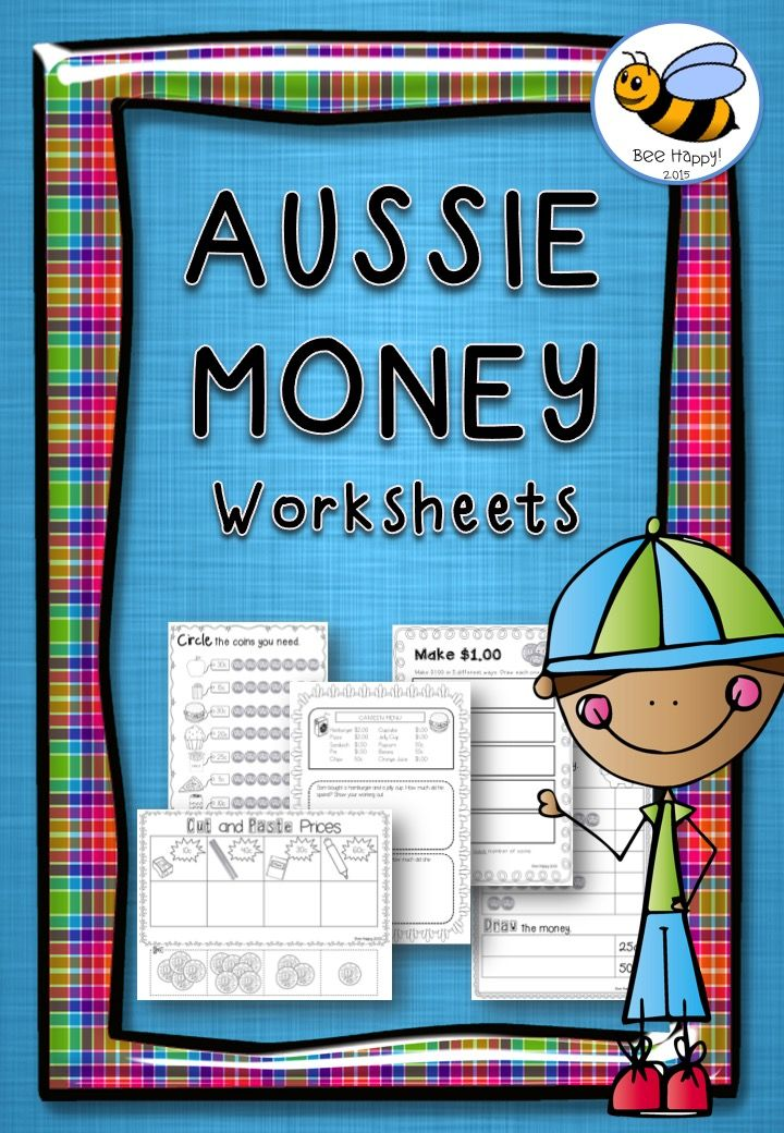 This Aussie Money set includes 30 worksheets that require no preparation whatsoever, just print and go. Can you believe it's only $6.00!