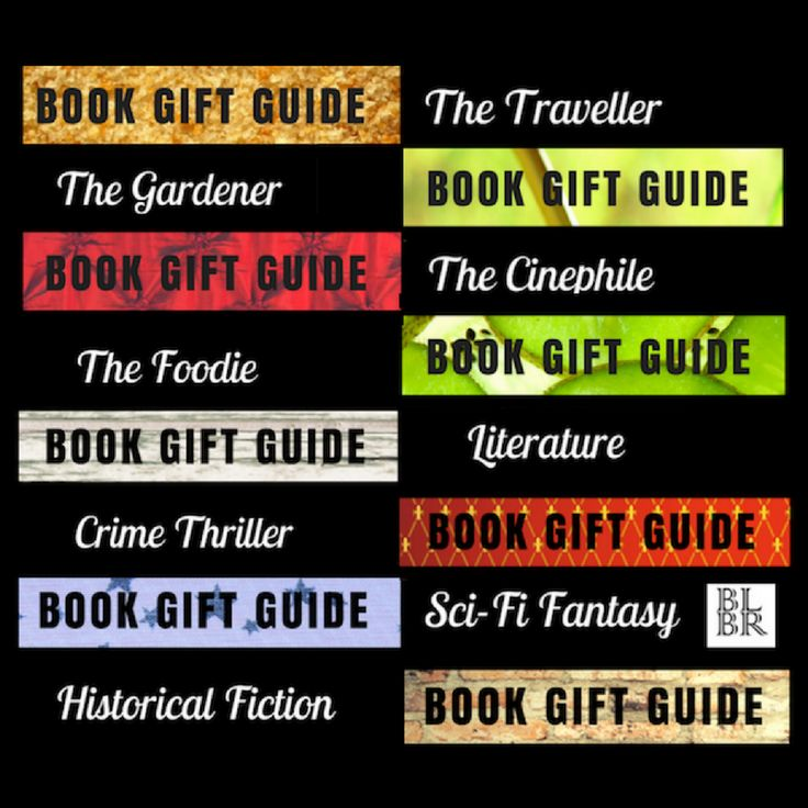 Book gift recommendations for everyone - The Traveller, Gardener, Foodie, Cinephile, Historical Fiction, Literature, Crime Thrillers & Science Fiction Fantasy.