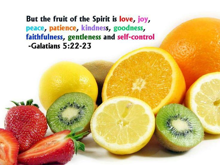 fruits of the holy spirit healthy fruit and vegetable snacks