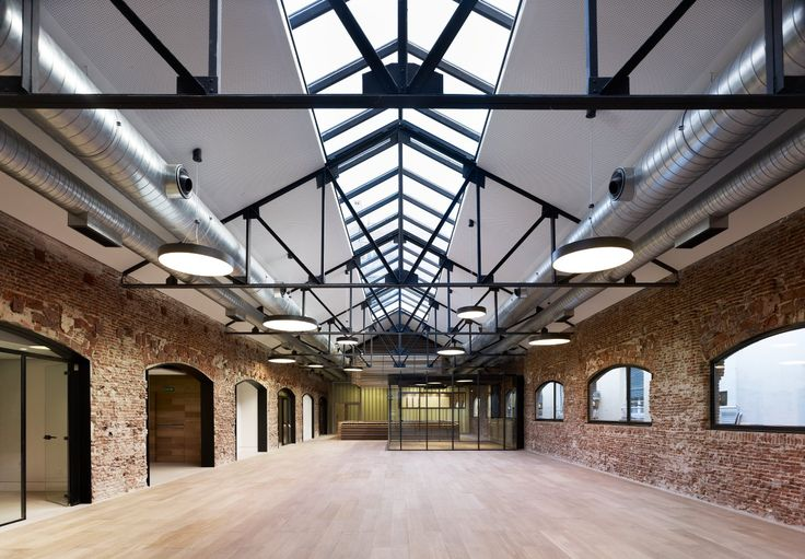 Fundacion Botin - Project - -refurbishment of 1920s industrial builing into new offices of Botín Foundation,projected by  MVN Arquitectos in collaboration with Juan Luis Líbano