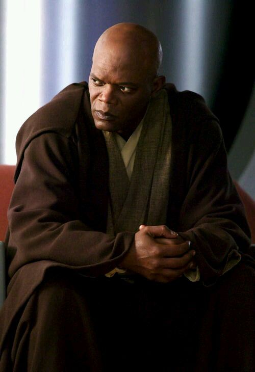 Mace Windu: Was a male Korun Human Jedi Master of legendary status who was the Master of the Order in the days leading up to the Battle of Geonosis, after which he gave the title to Grand Master Yoda. He served as one of the last members of the Jedi High Council before the Great Jedi Purge. Serving on the Council, Windu was often regarded as second only to the Grand Master Yoda, though Windu was eight centuries Yoda's junior.