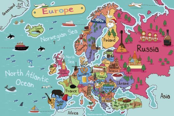 Cartina Capitali Del Mondo.Elenco Delle Nazioni E Capitali Europee Mappe Illustrate Mappa Mappe
