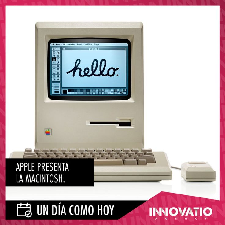Un 24 de enero de 1984 la empresa Apple Inc. Presenta al público la revolucionario Macintosh. Primera computadora personal.  #SocialMedia #Marketing #DigitalMarketing #Entrepreneur #Leadership #Strategy #SocialMediaMarketing #OnlineMarketing #ContentMarketing #MarketingTips #MarketingStrategy #Motivation #Startup