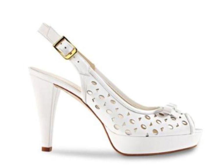 LORBAC bianche vernice comode, di qualitá e italiane tg 36 (scarpa da SPOSA)