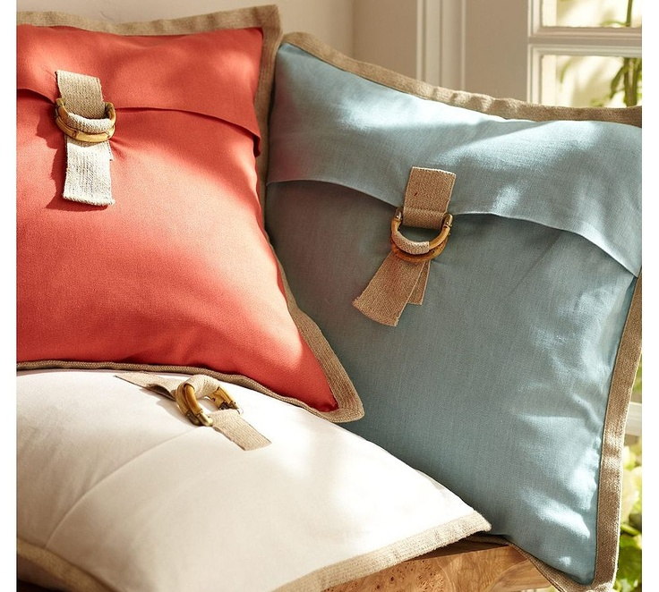 pottery barn bamboo buckle pillow covers pillow decorative pillow home accents throw pillows