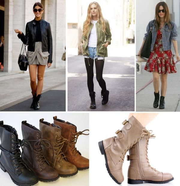 botas militares mujer outfit