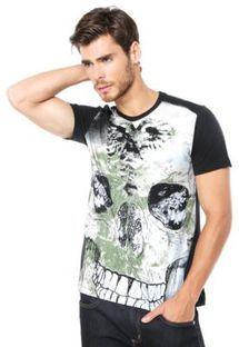 Camiseta Cavalera Caveira Preta