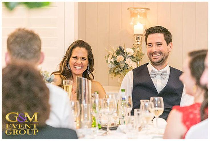 Brisbane Golf Club Aaron&Toni - Happy Moment || G&M Event Group Wedding DJs & Lighting Design #brisbanewedding || Photo taken by @studiosw19