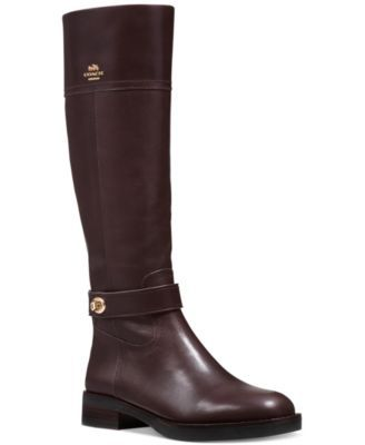 COACH Eva Tall Narrow Calf Riding Boots. THESE HAVE A 12.9 boot opening. Awesome for thin people