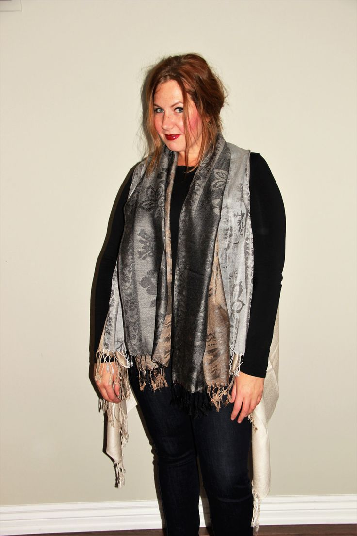 Silver- Gray and Beige Cover up by LLCozyCorner on Etsy