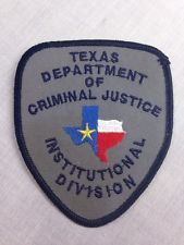 TEXAS PRISON, TDCJ-ID, Department Of Corrections, Embroidered Patch
