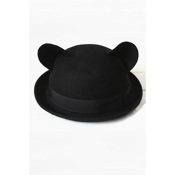 OASAP - Cat Ear Bowler - Street Fashion Store ($28) via Polyvore