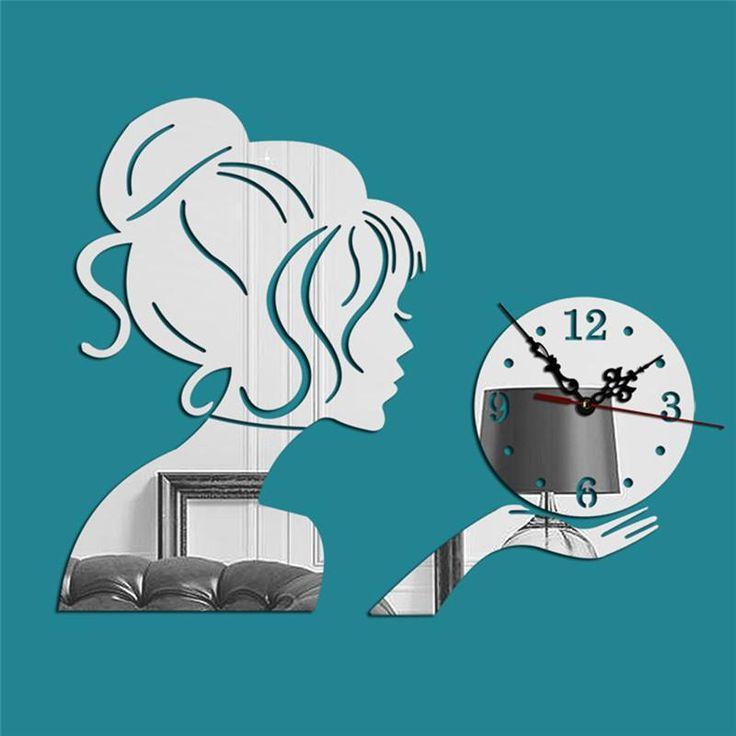Bubbly Girl Mirror Clock