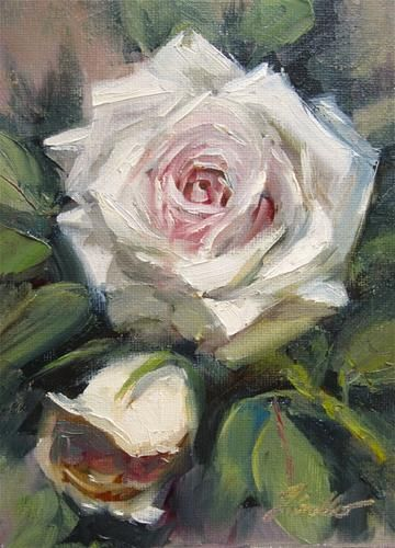 "Daily Paintworks - ""Rose Study #3"" - Original Fine Art for Sale - © Pat Fiorello"