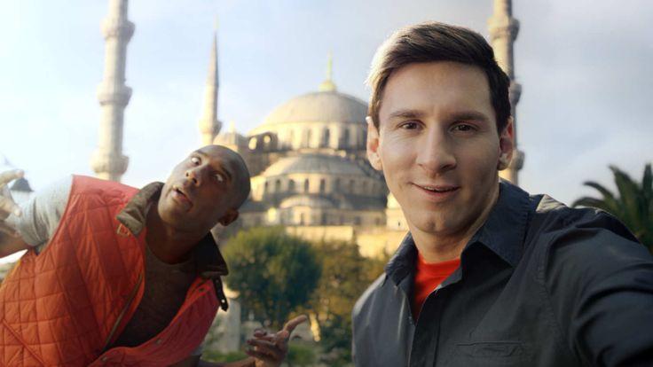 Turkish Airlines Selfie Shootout Kobe vs Messi