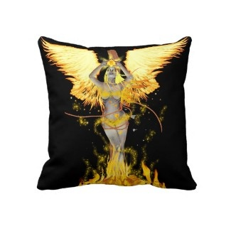 flame witch pillow