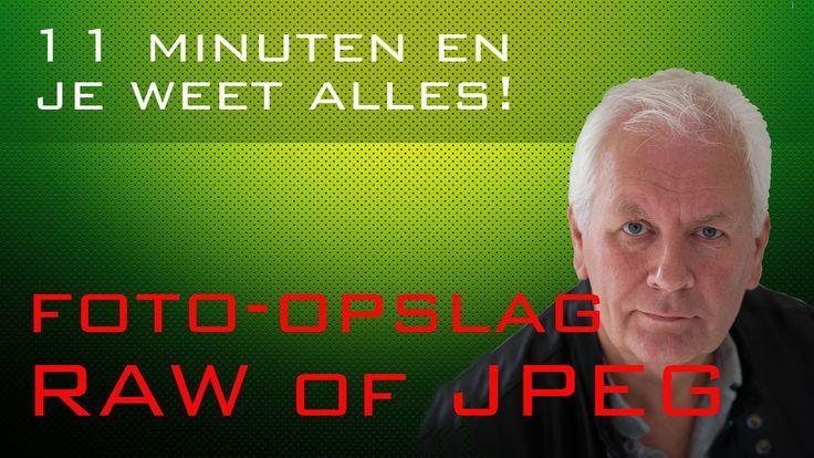 JPEG of RAW foto opslag in gewoon Nederlands