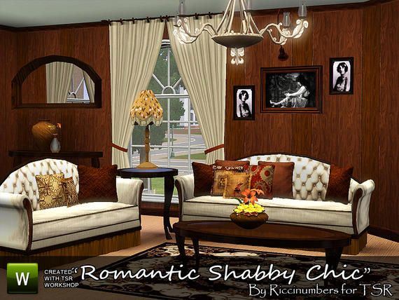 Romantic Shabby Chic Living Room By Riccinumbers At TSR U2013 Social Sims Part 85