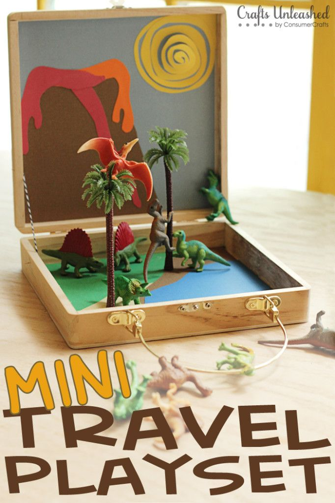 Mini DIY Kids Travel Playset - Crafts Unleashed  Such a great idea for restaurants or car travel. The possibilities are endless!