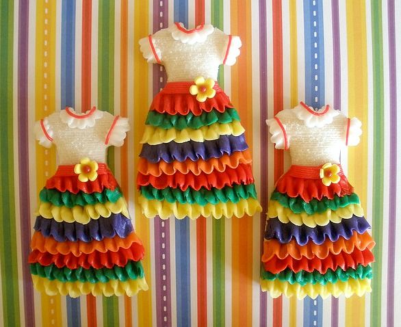 Mexican dresses cookies - perfect for Cinco de Mayo