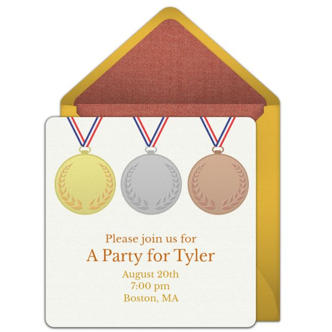 11 best go for gold flyer ideas images on pinterest olympic free medals invitations stopboris Choice Image