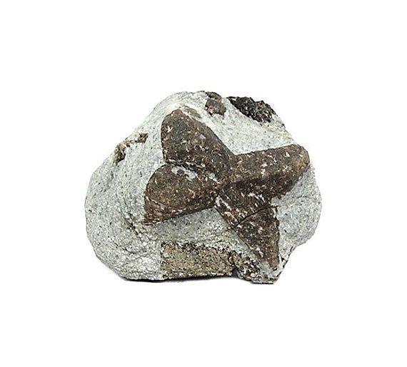 Staurolite Crystal in Mica Rock Matrix Twin St by FenderMinerals