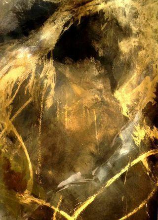 Golden Cave #artleanda #art #abstract #acrylic #painting