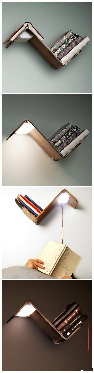 bookshelf and reading light... what else do you need?