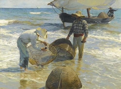 Joaquín Sorolla y Bastida, Pescadores valencianos [Valencian fishermen], 1895.