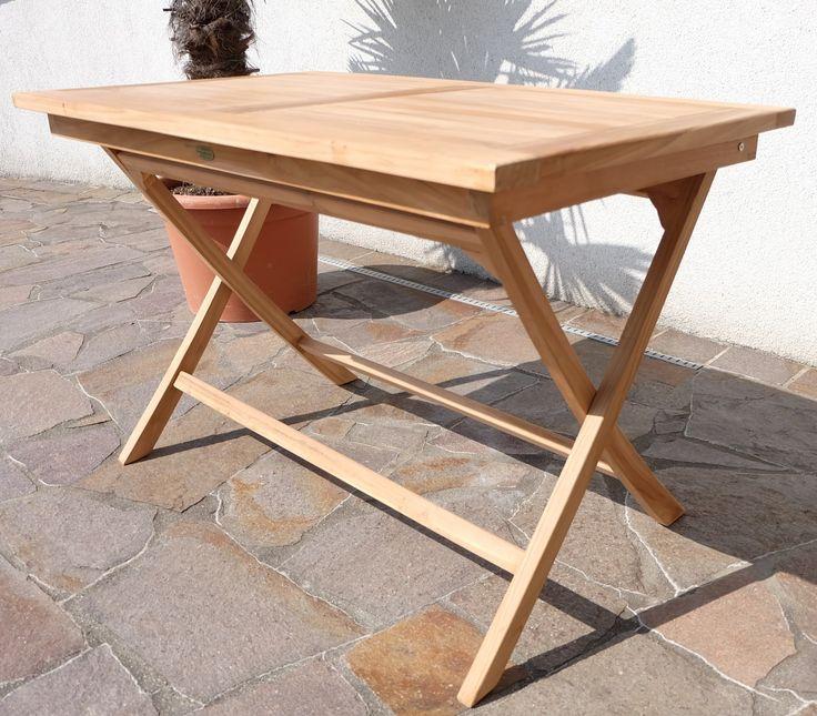 Stunning TEAK Klapptisch Holztisch Gartentisch Garten Tisch xcm AVES Holz ge lt Alles f r Garten und Terasse Gartenm bel