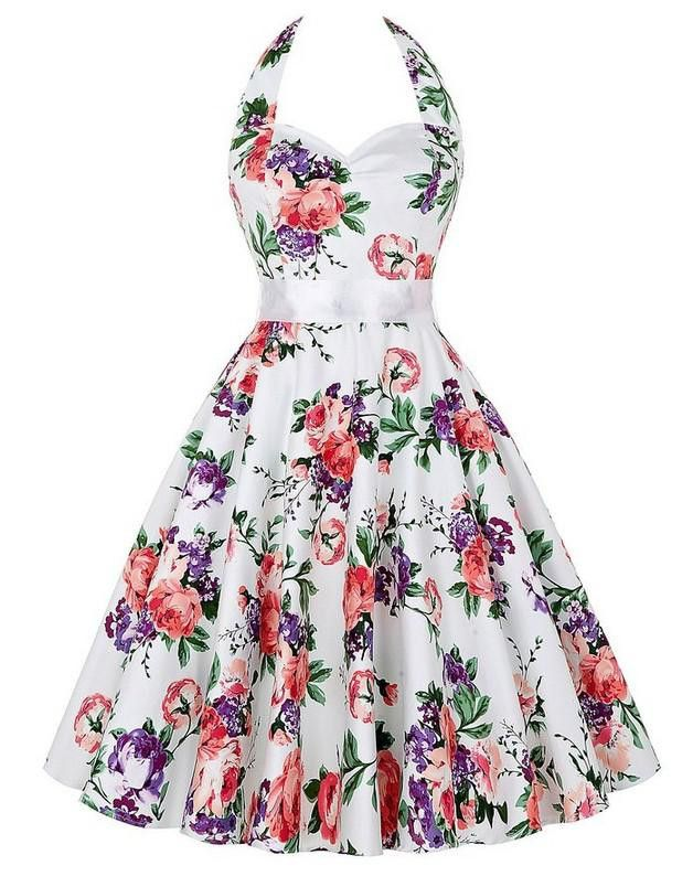 Floral robe Retro Swing Casual 50s Vintage Rockabilly Dresses Vestidos