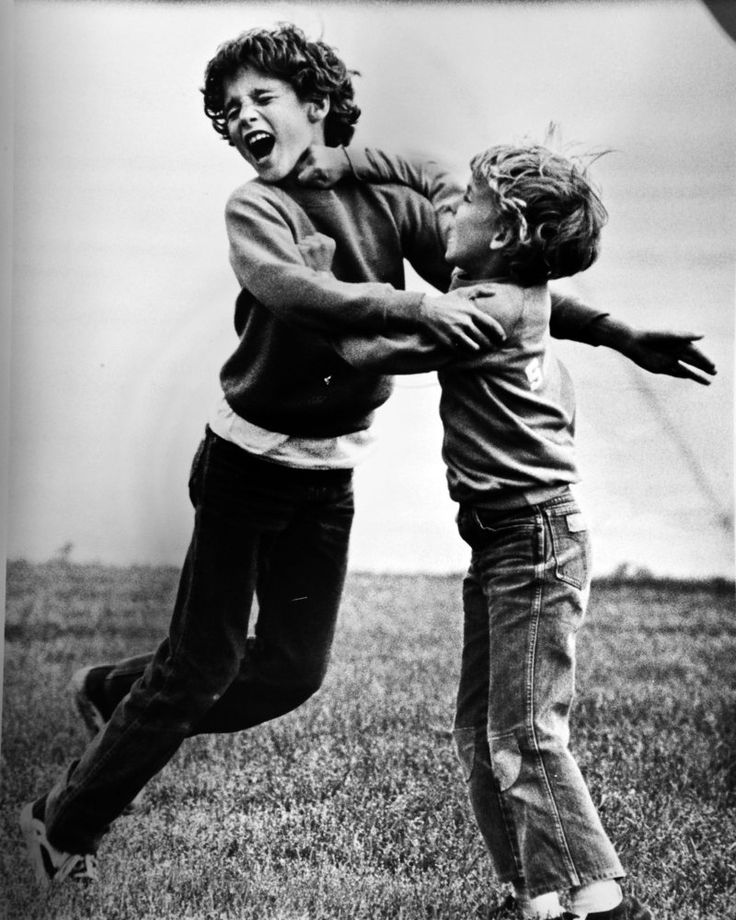 Alexandre (Sacha) Trudeau delivers a right hook to his older brother Justin during a play fight in 1980 at Ottawa airport as the boys await a flight with the return of their father, then-prime minister, Pierre Trudeau. Nobody was injured. Justin was born in 1971 and Sacha in 1973 - both on Christmas day.