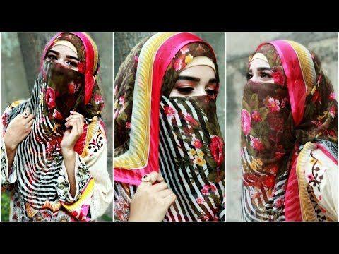 Easy Niqab Hijab Tutorial by Masfa - YouTube