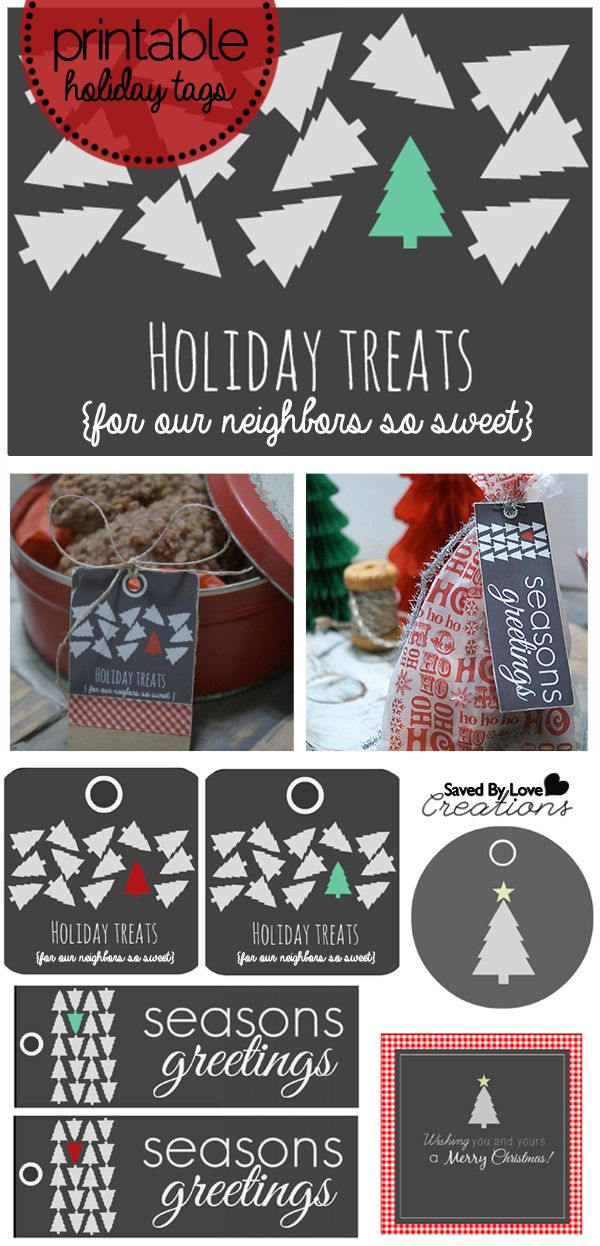178 best christmas gift tags and printables images on pinterest neighbor gift modern free printable set holiday tags fabulous recipes 4 a christmas baked goods gift negle Images