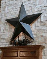 Can T Have A Texas Decor Without The Star Love The Look Of The Stone Wall