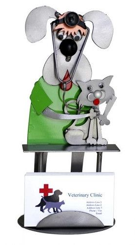 Dog & Cat Veterinarian Business Card Holder