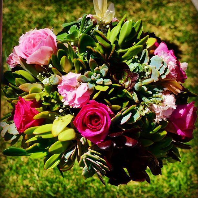 #kirkbride #sydneycollegeofthearts #weddingceremony #outdoorceremony #succulentwedding #succulentkissingball #rosesandsucculents #pinkwedding #floralstyling and #weddingstyling by @countryside_love