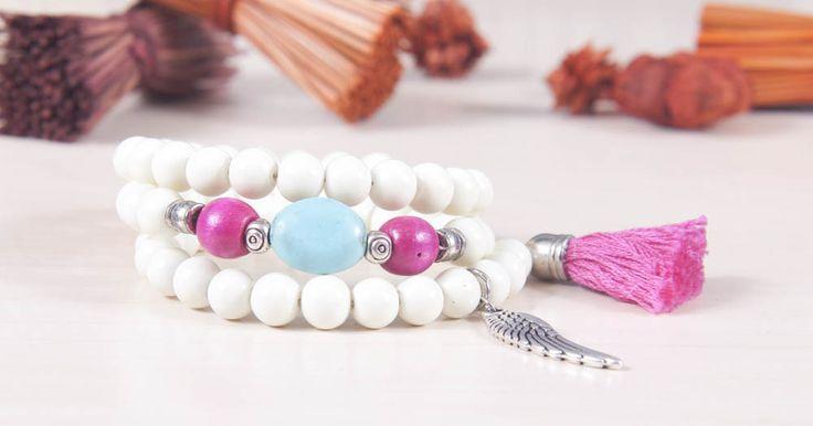Boho feather & tassel bracelet.
