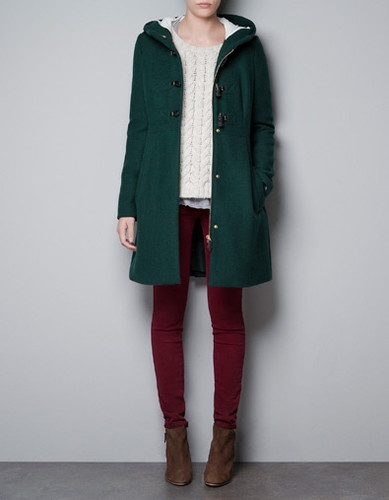 Bottle green duffle coat