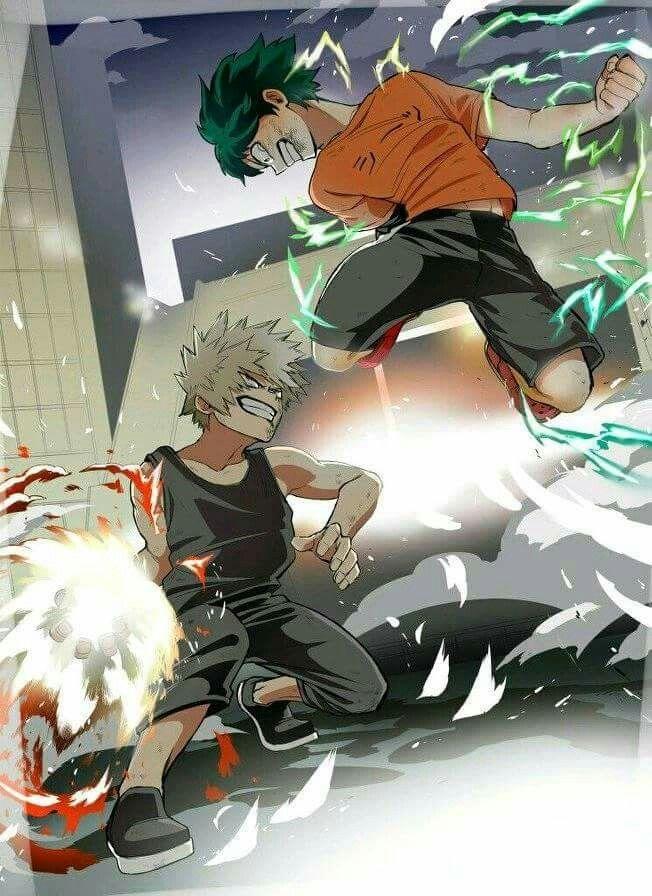 Midoriya Izuku Bakugo Katsuki Hero Wallpaper My Hero Academia My Hero