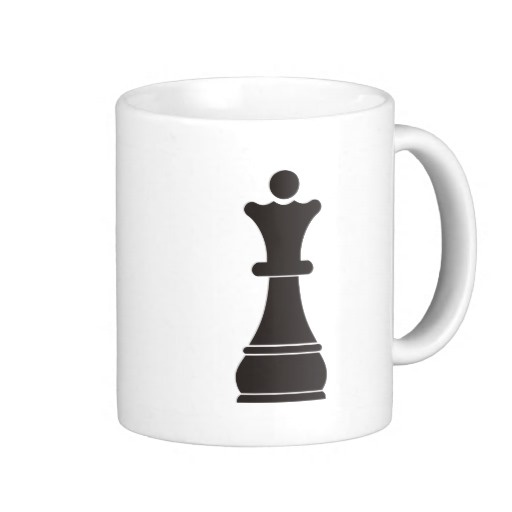 Black Queen Chess Piece Coffee Mug Created By Peculiardesign This Design Is Available On Mugs Travel Steins And Totally Customizable