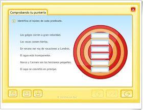 """Diez juegos y actividades interactivas para el aprendizaje de """"SUJETO Y PREDICADO"""" en Educación Primaria"""